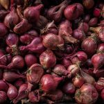 Free stock photo Full frame shot of onions