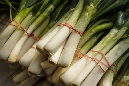 Free stock photo High angle view of leeks