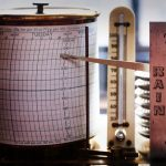 Free stock photo Rain gauge recorder with graph paper and pointer during rainfall