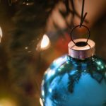 Free stock photo Close-up of Christmas ornament hanging from Christmas tree
