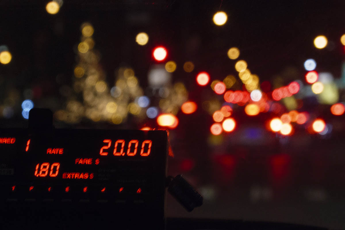 Free stock photo Close-up of taxi fare meter in New York City