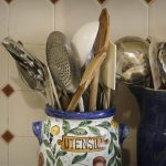 Free stock photo Close-up of kitchen spoons in jar