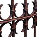 Free stock photo Close-up of rusted metal fence