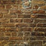 Free stock photo Full frame shot of an old brick wall