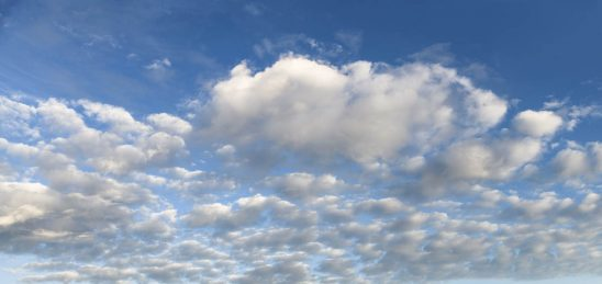 Free stock photo Panoramic low angle view of fluffy clouds in sky