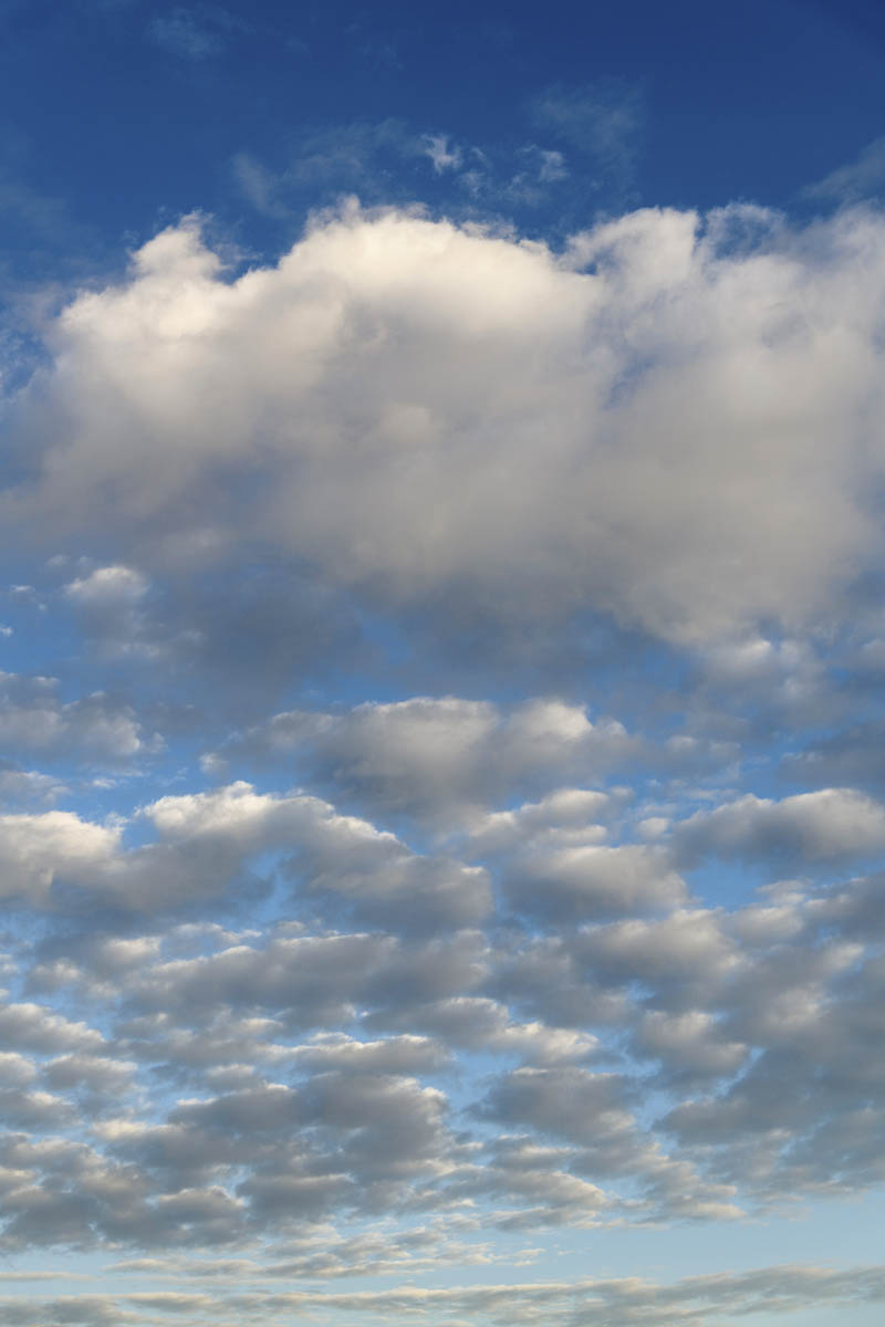 Free stock photo Low angle view of fluffy clouds in sky