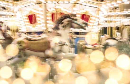 Free stock photo Blurred motion of illuminated carousel