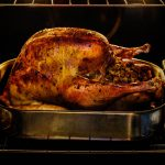 Free stock photo Roasted turkey for Thanksgiving in oven