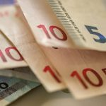 Free stock photo Close-up of euro currency on table