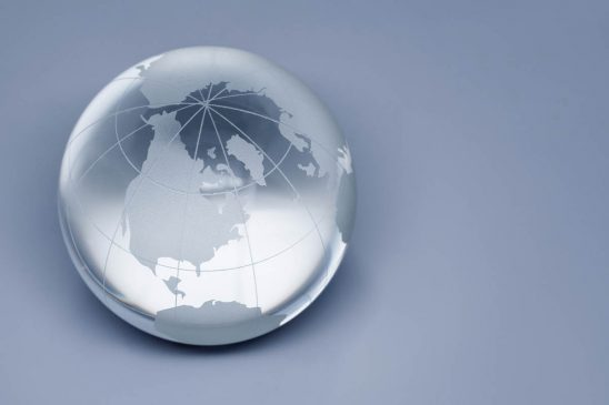 Free stock photo Crystal globe on white background