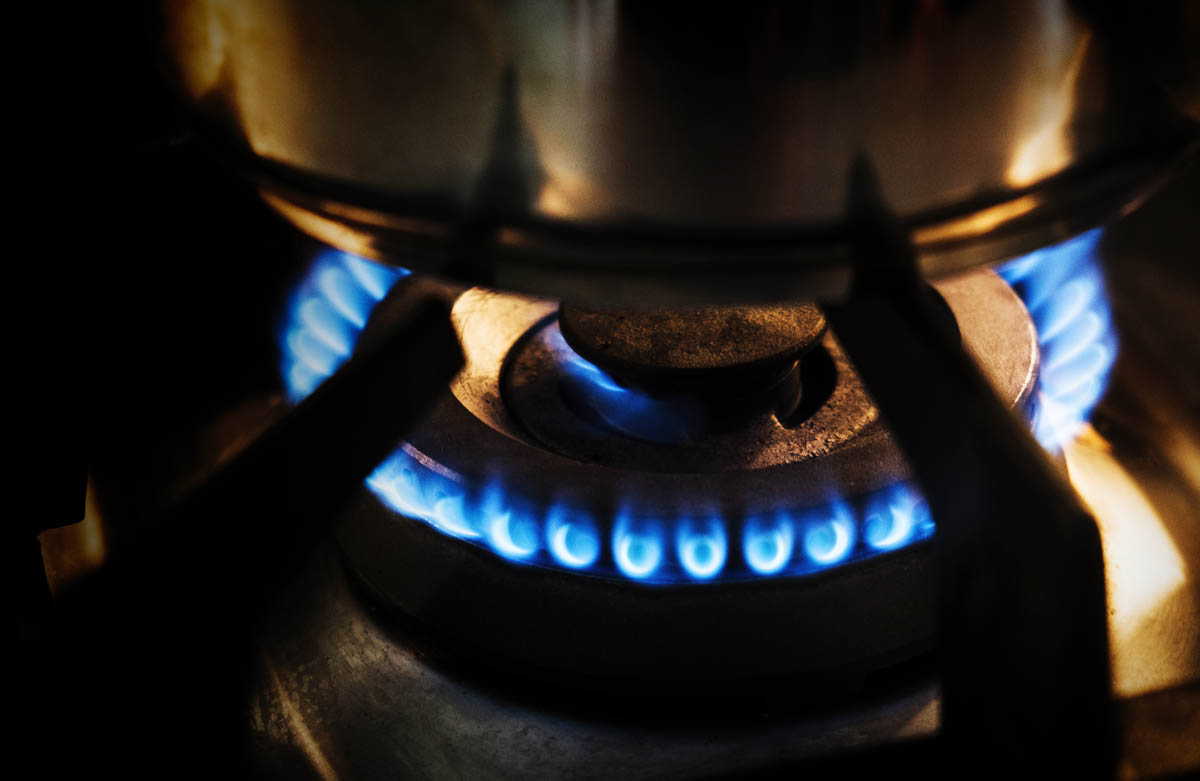 Free stock photo Close-up of blue flame coming out from burner