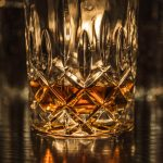 Free stock photo Close-up of whiskey in glass on table