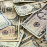 Free stock photo Full frame shot of US paper currency