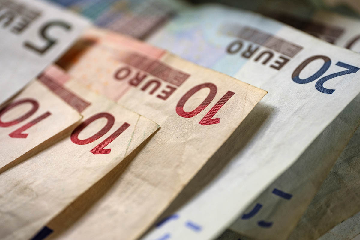 Free stock photo Close-up of euro paper currency