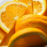 Free stock photo Close-up of fresh orange slices in plate