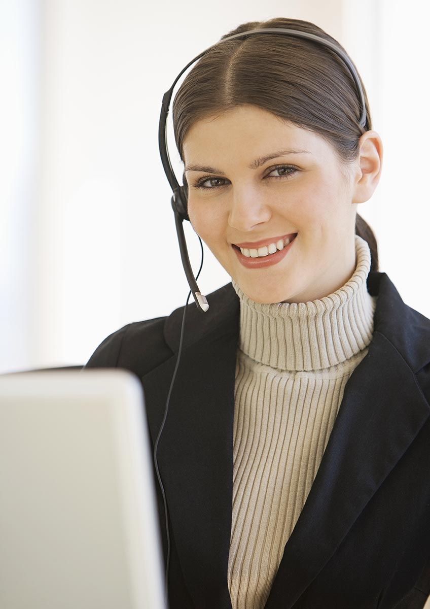 Free stock photo Business woman talking on headphone