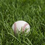 Free stock photo Baseball laying on grass