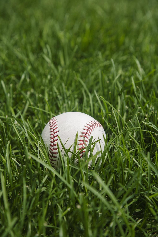 Free stock photo Baseball laying on grass