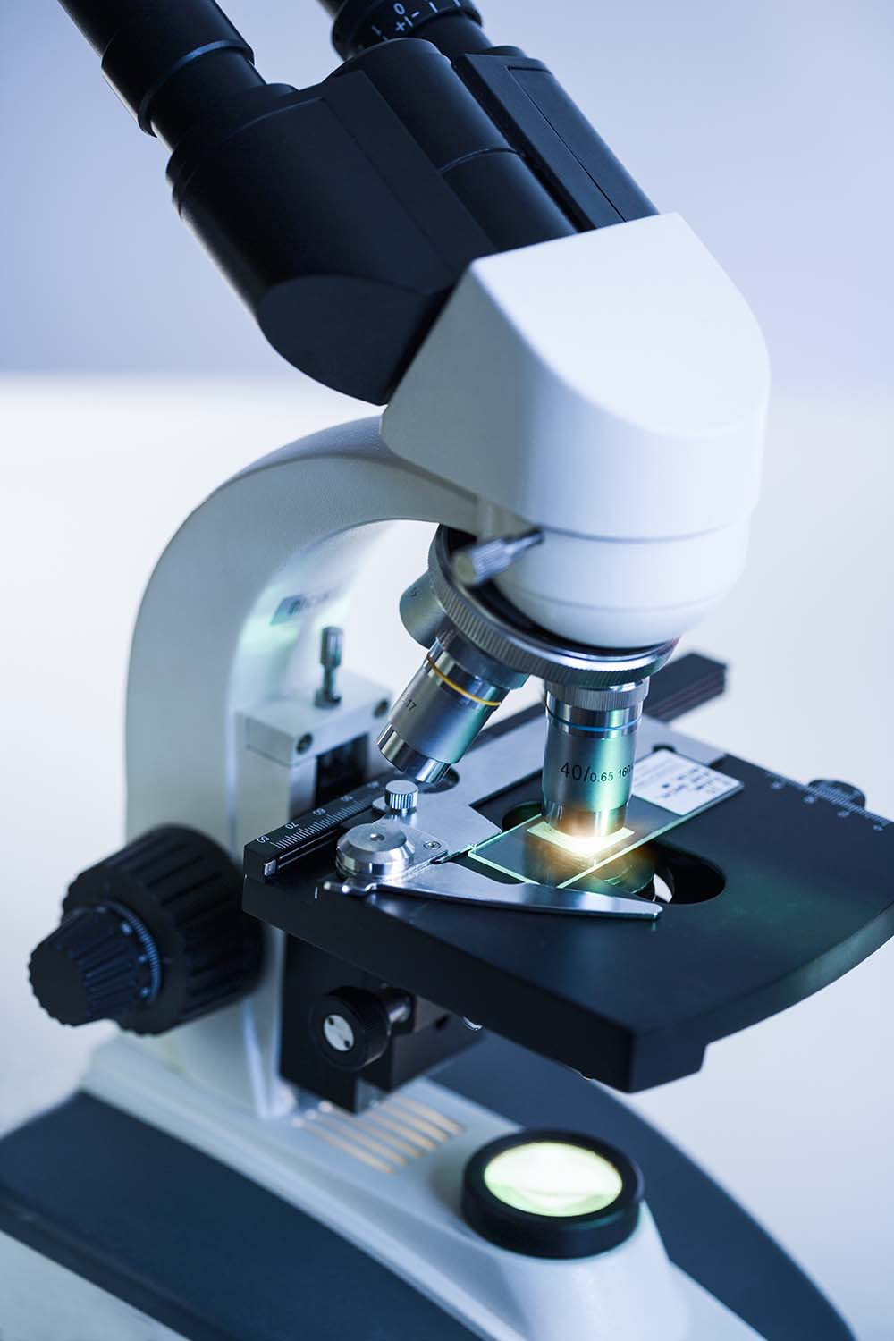 Free stock photo A research microscope with examination slide