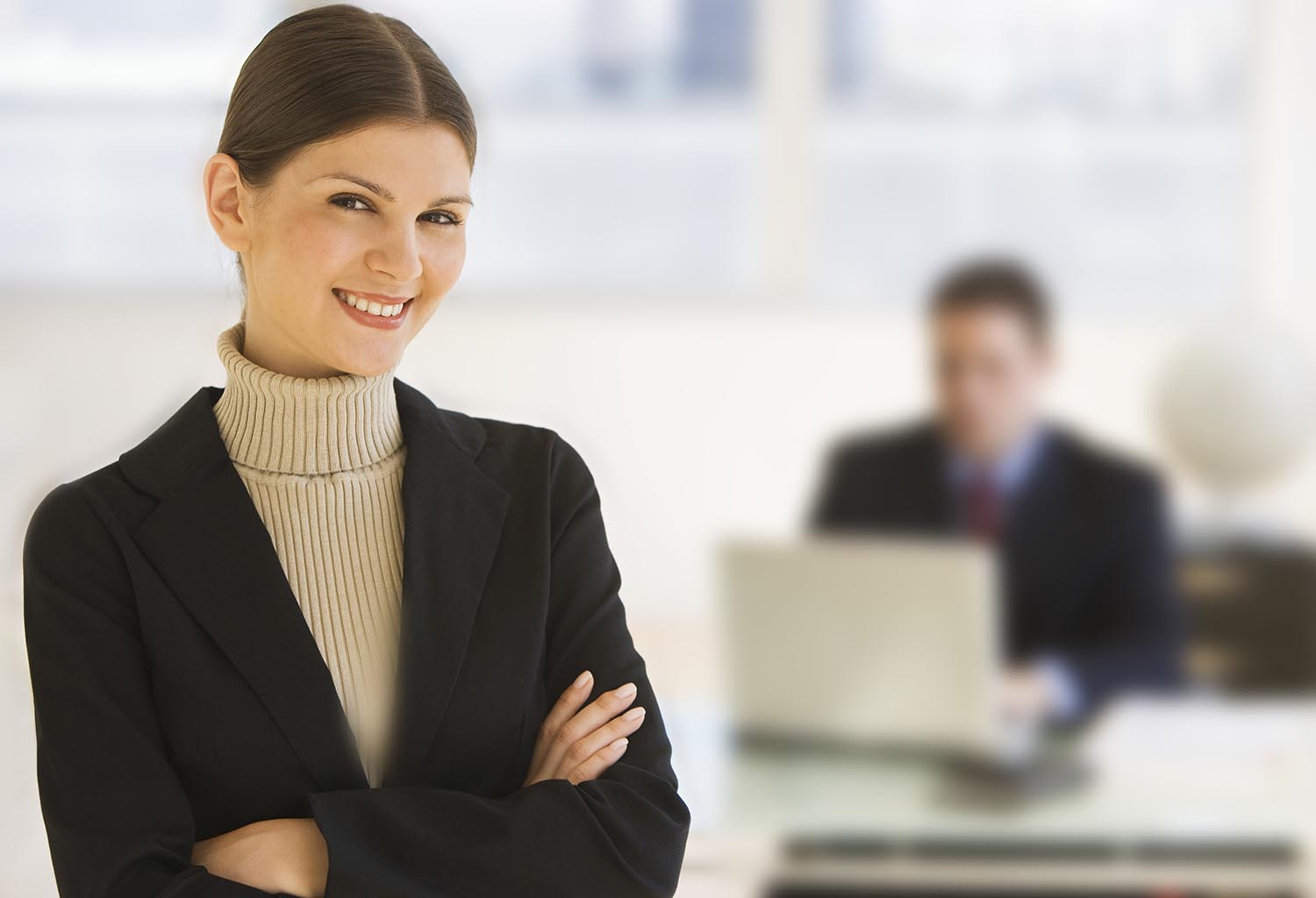 Free stock photo Business woman standing in the office