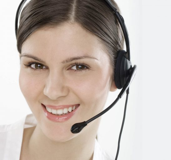 Free stock photo Young woman with headset