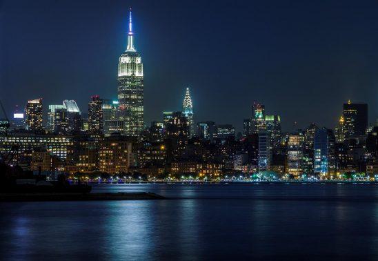 Free stock photo Mid-town Manhattan at night