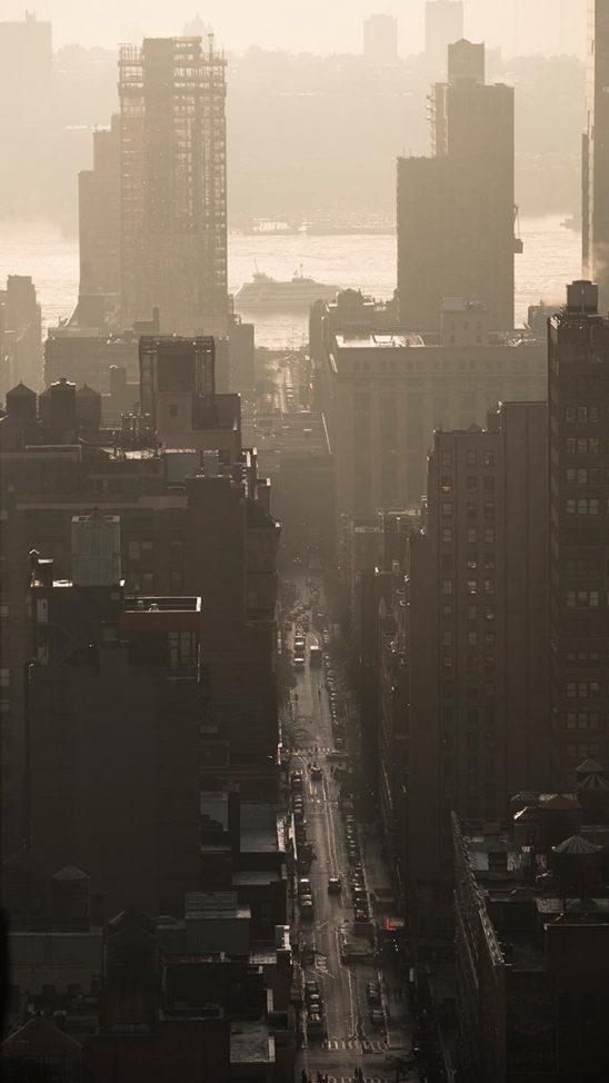 Free stock photo New York City on a hazy day