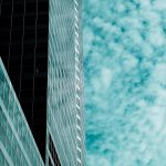 Free stock photo Abstract pattern of office building and sky