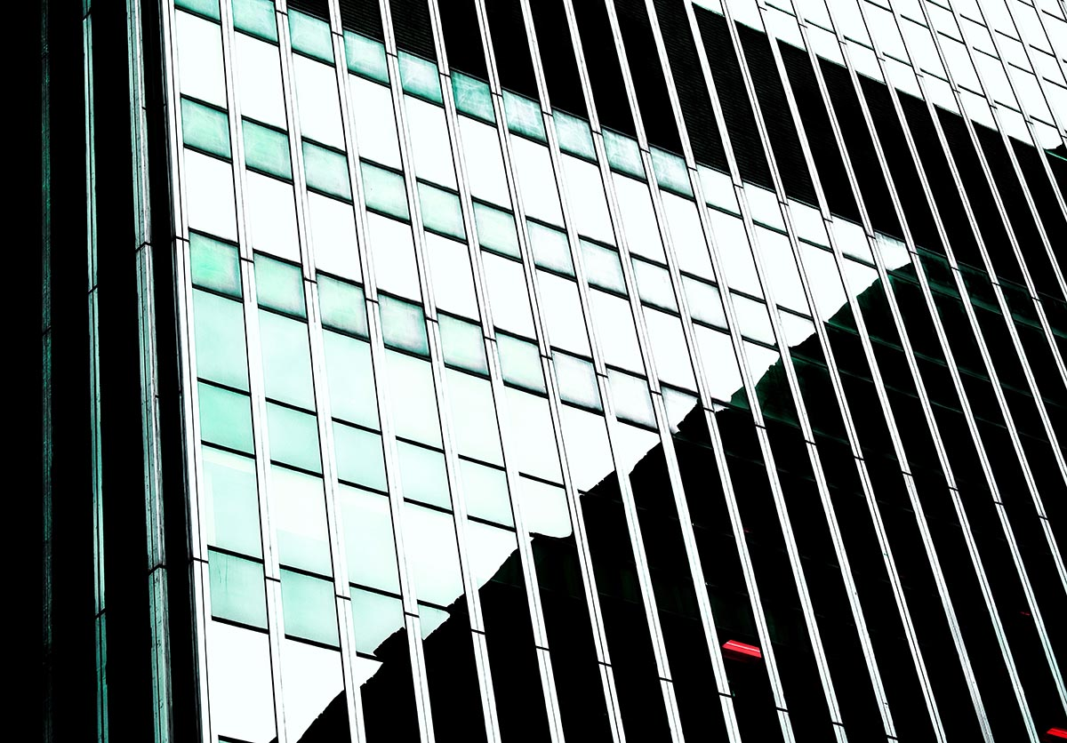 Free stock photo Geometric background pattern of skyscraper windows