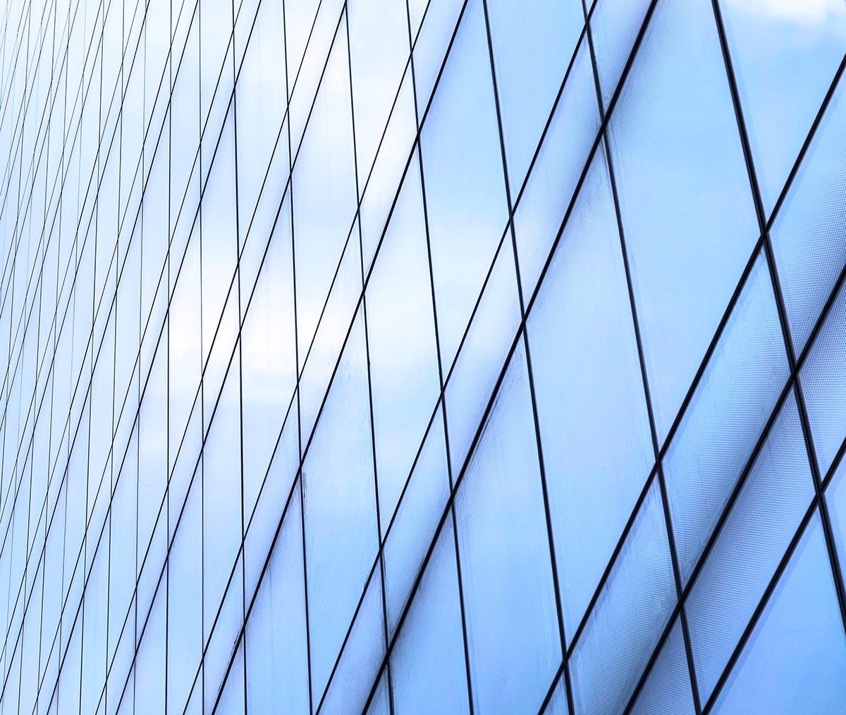 Free stock photo Diagonal pattern of office building windows