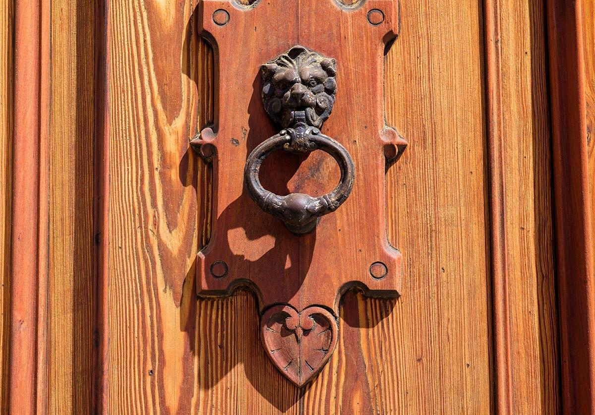 Free stock photo Old door knocker on a wooden door, Spain