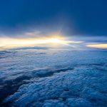 Free stock photo Sunrise from above the clouds