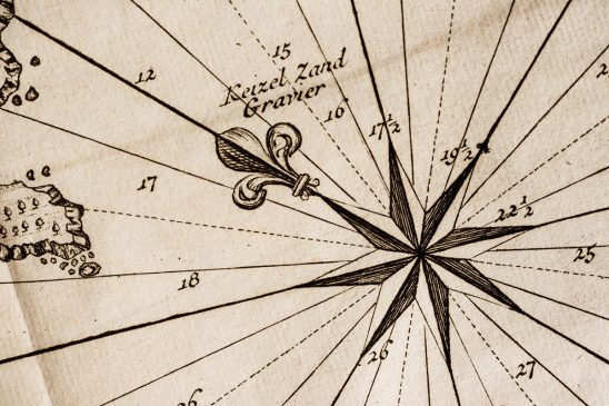 Free stock photo Compass rose on an antique map