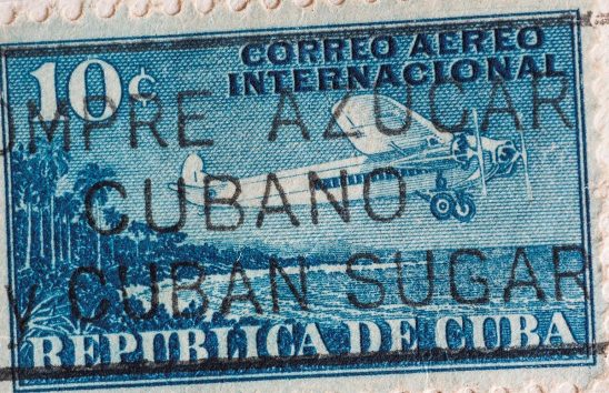 Free stock photo Republic of Cuba vintage airmail stamp