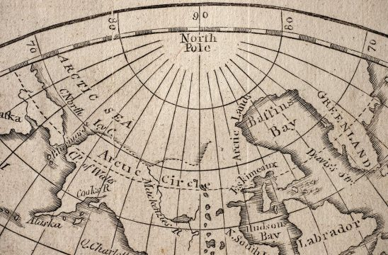 Free stock photo Section of an antique map showing the North Pole