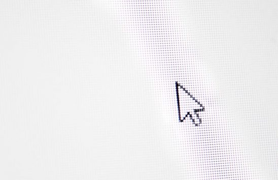 Free stock photo Pointer arrow on a blank computer screen