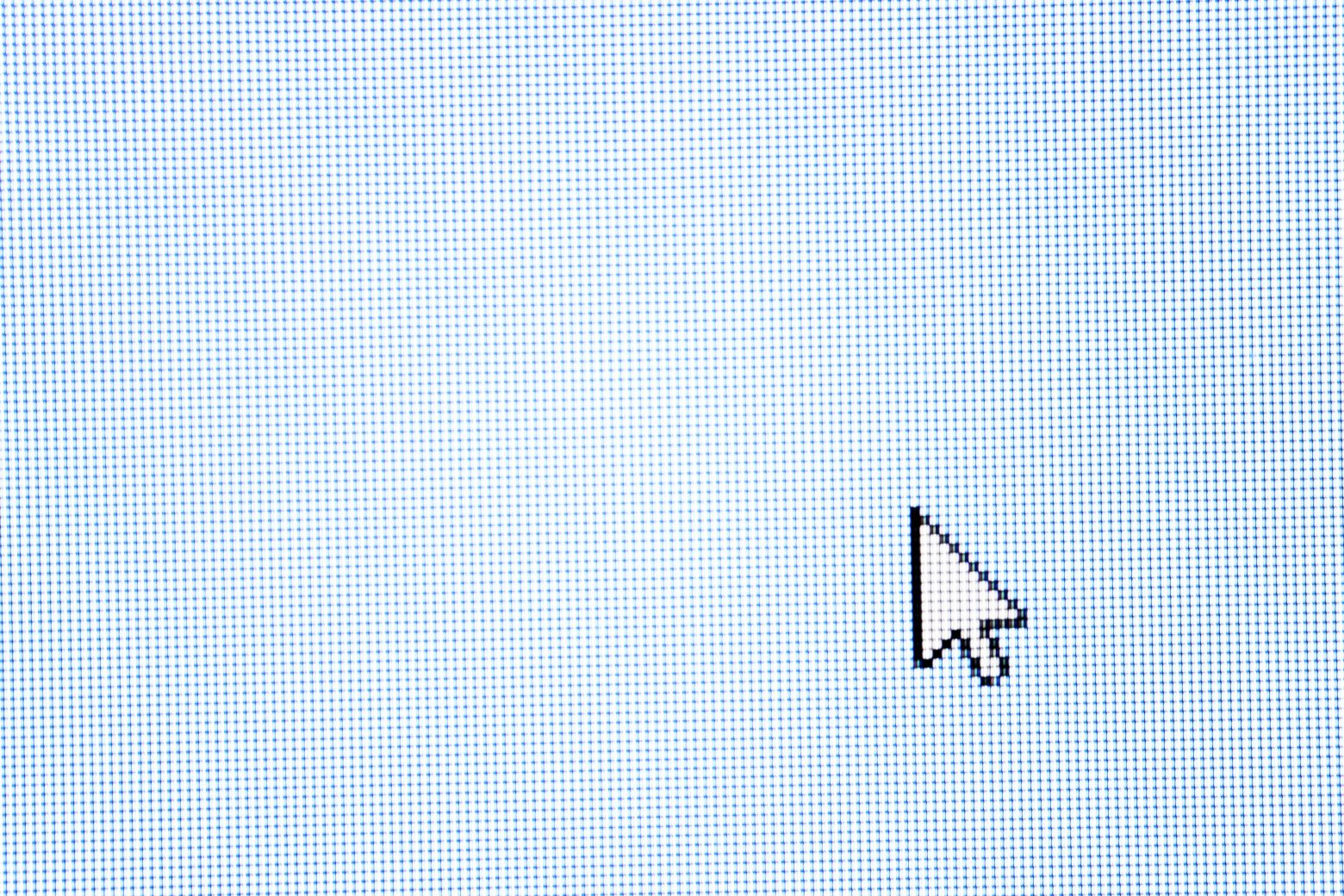 Free stock photo Mouse arrow pointing on a blank computer screen