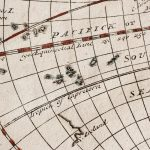 Free stock photo Antique map showing the Pacific and equator