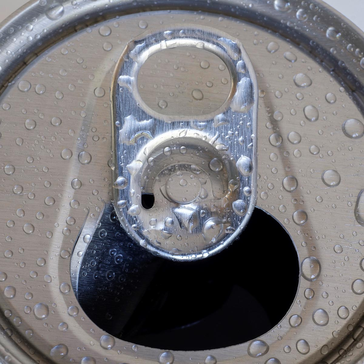 Free stock photo Close up of a flip top can with water drop