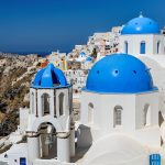 Free stock photo White-washed buildings on the Island of Santorini, Greece