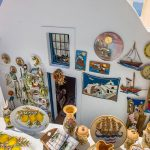 Free stock photo Tourist store with ceramics on the island of Santorini