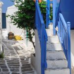 Free stock photo Colorful side street on Mykonos, Greece