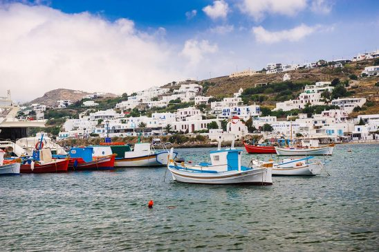 Free stock photo The harbor in Mykonos, Greece