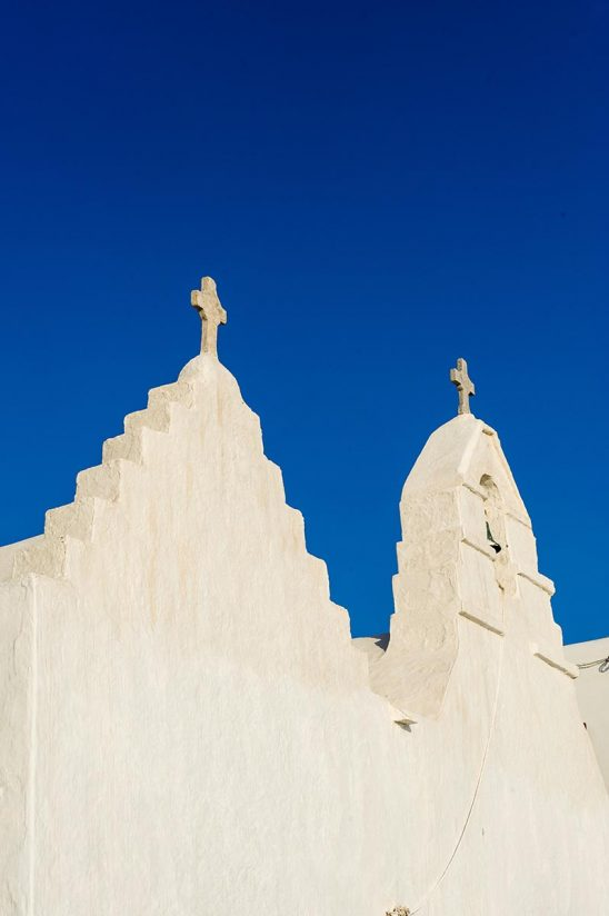 Free stock photo Steeples on the Praportiani church on Mykonos, Greece