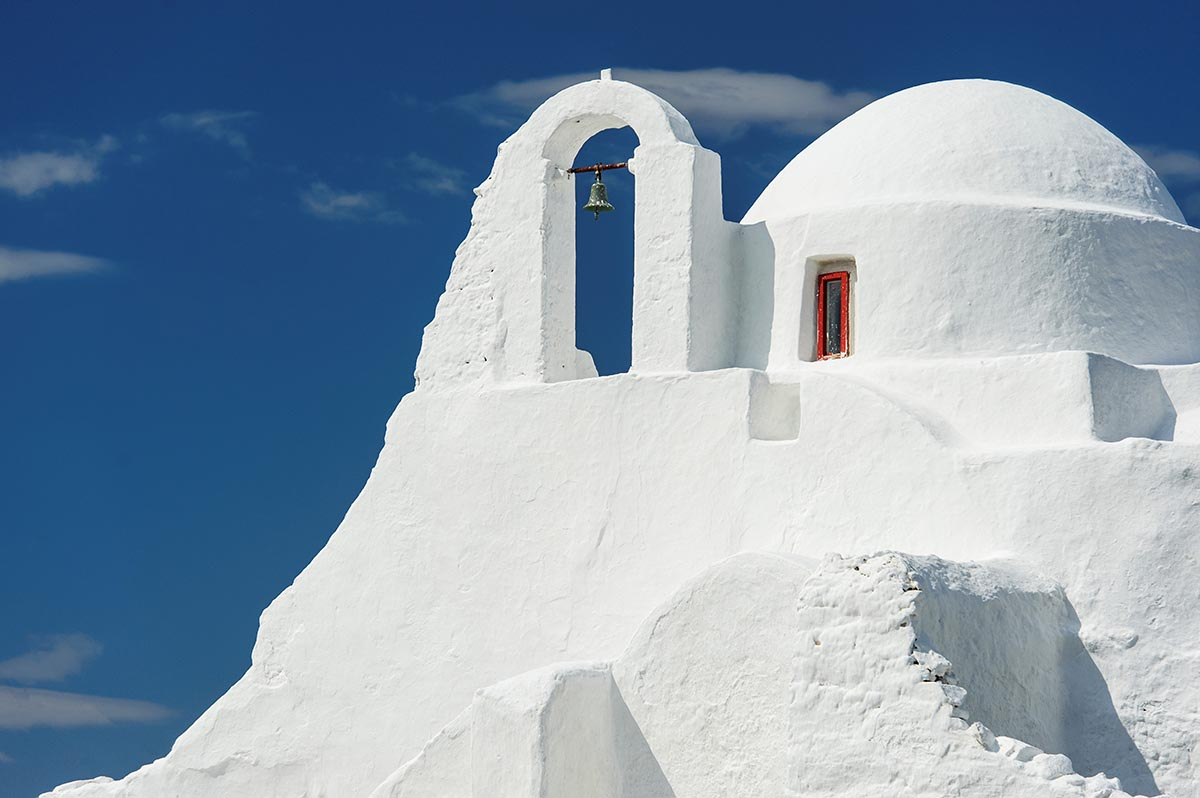 Free stock photo Praportiani church and bell on Mykonos, Greece