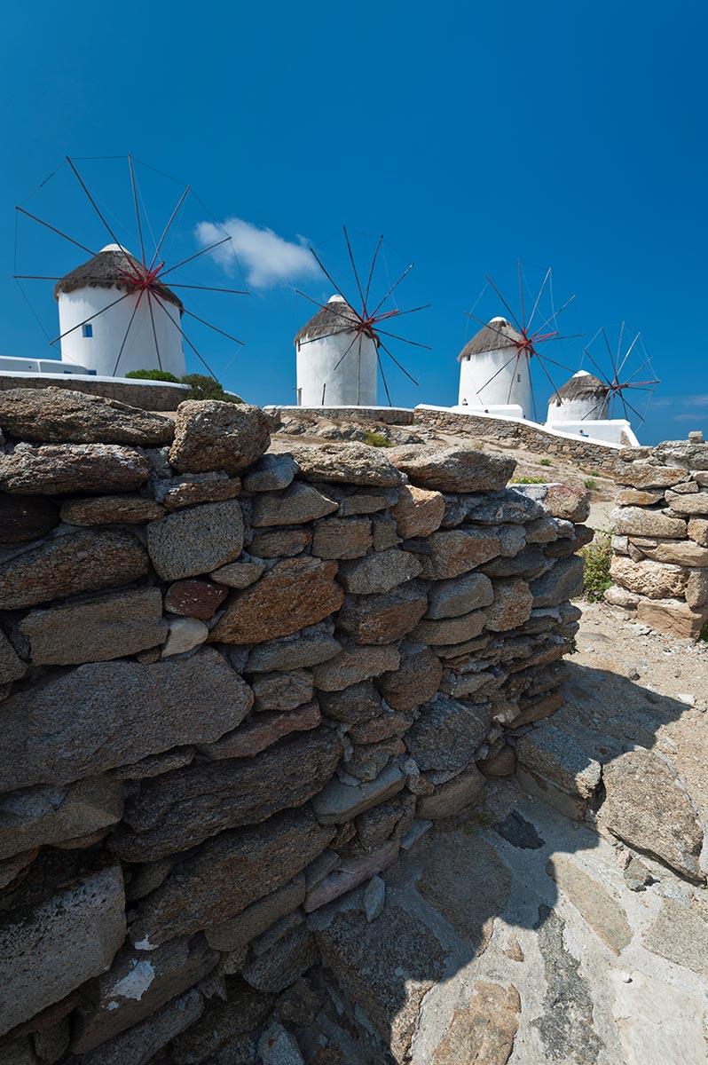 Free stock photo Windmills on the island of Mykonos, Greece