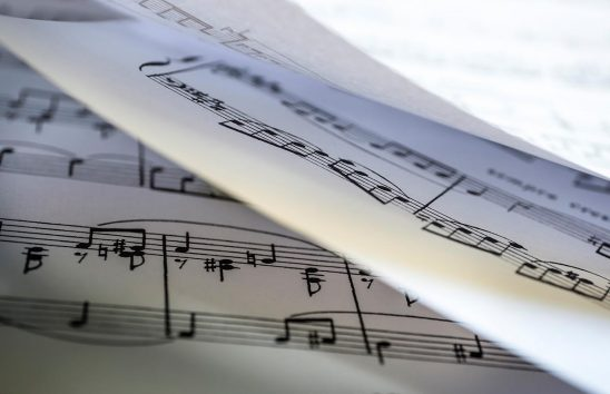 Free stock photo A background of sheets of music