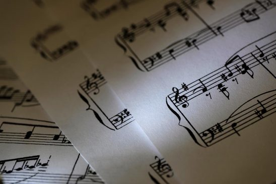 Free stock photo Sheets of music as a background