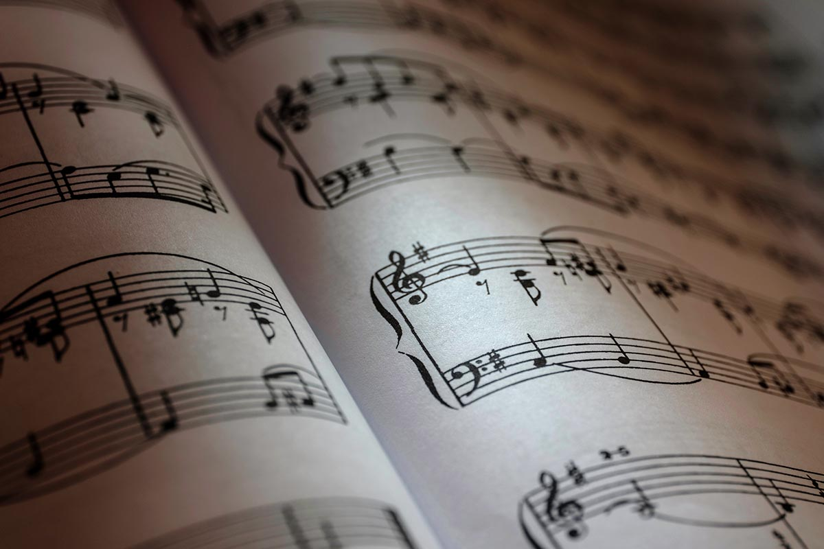 Free stock photo Pages of sheet music