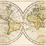 Free stock photo Antique double hemisphere map of the world